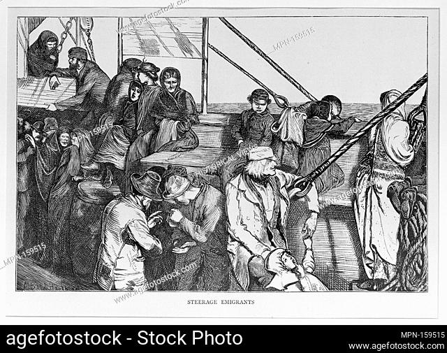 Steerage Emigrants (The Graphic). Artist: Arthur Boyd Houghton (British, Madras, India 1836-1875 London); Date: March 19