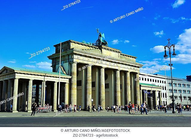 The Brandenburg Gate, XVIIIth century, by Carl Gotthard Langhans. Berlin, Germany