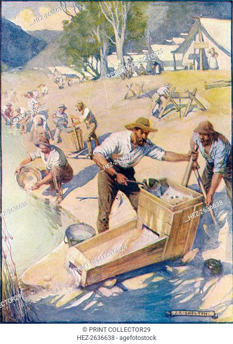 'All Day Long The Sound of the Pick and the Rumble of the Cradle Were Heard', c1908, (c1920). Artist: Joseph Ratcliffe Skelton