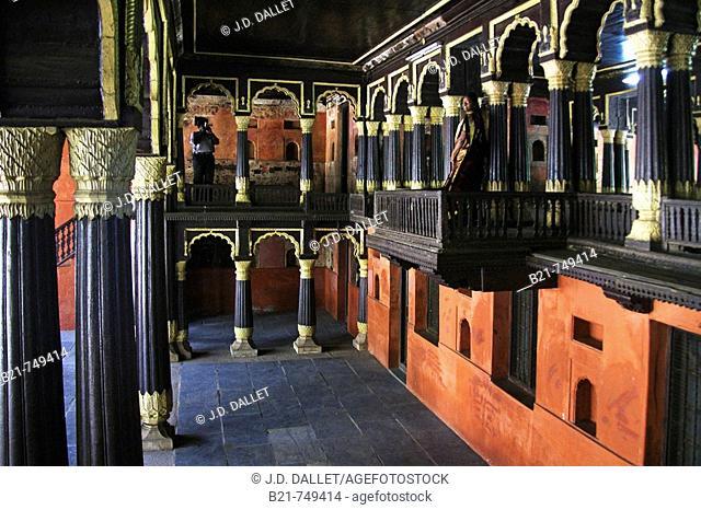 Tipu Sultan's Palace. Bangalore. Karnataka State. India
