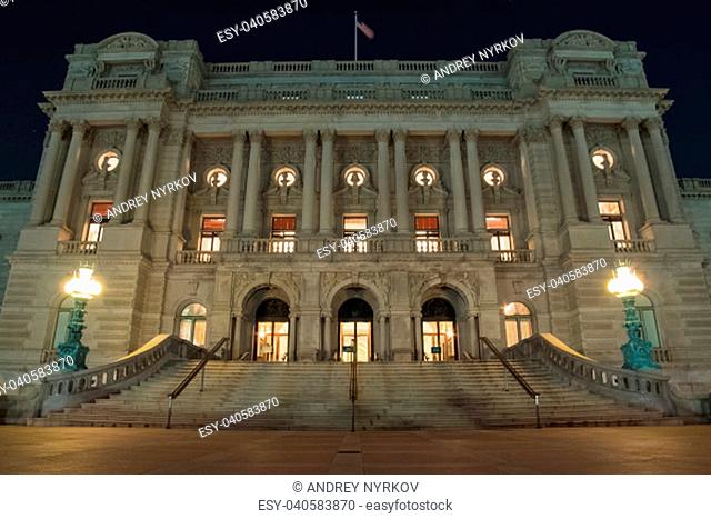 Washington, USA - June 23, 2017: Library of Congress. The Greatest Library in the United States
