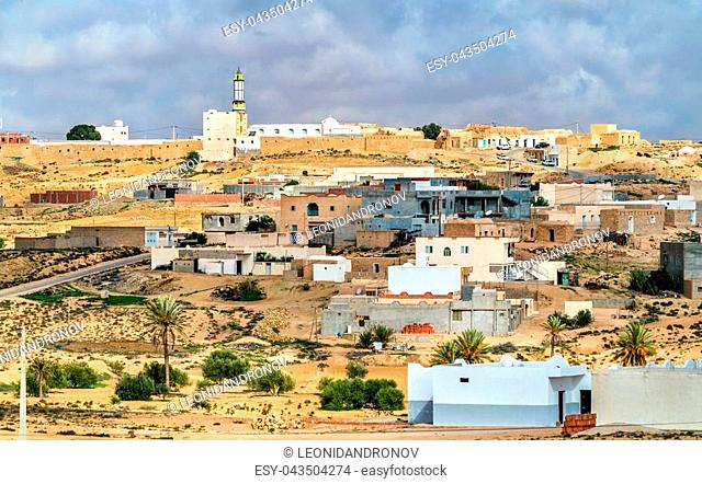 Typical village in South Tunisia, Tataouine Governorate. North Africa