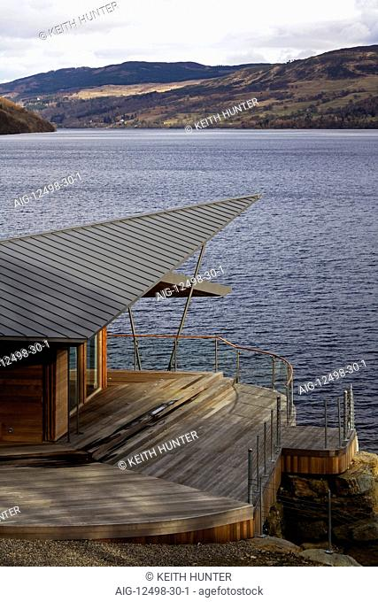 Balnearn Boathouse, Loch Tay, Perthshire. RIBA Award winner 2010, Architects: Architects: MacKenzie Strickland Architects