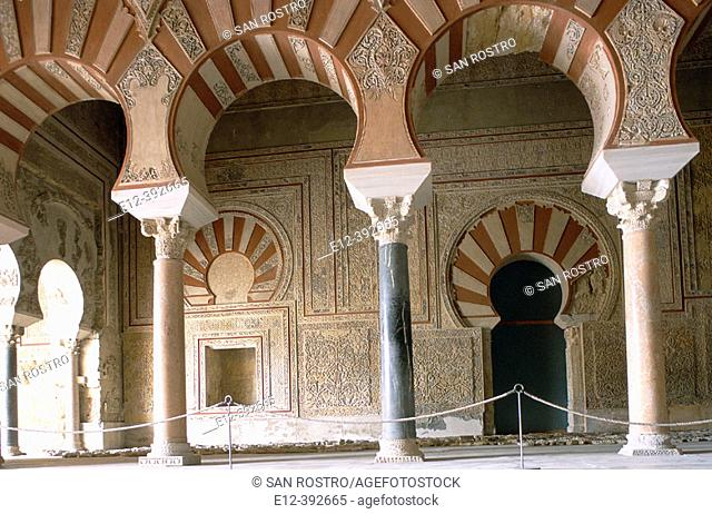Ruins of Medina Azahara palace. Abd al-Rahman III's lounge. Córdoba province. Andalusia. Spain