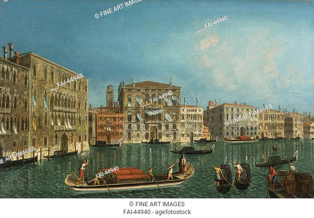 The Grand Canal with Palazzo Foscari and Palazzo Balbi by Marieschi, Michele Giovanni (1710-1743)/Oil on canvas/Rococo/Italy