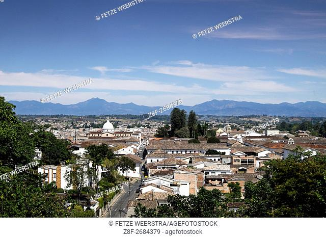 View over Popayán