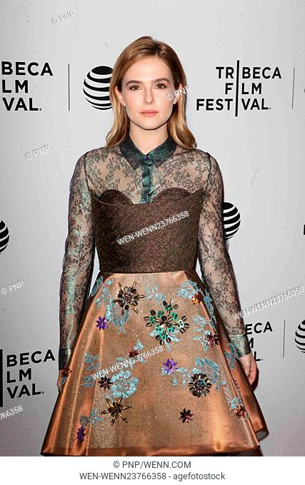 2016 Tribeca Film Festival - Vincent-N-Roxxy - Premiere Featuring: Zoey Deutch Where: NYC, New York, United States When: 18 Apr 2016 Credit: PNP/WENN