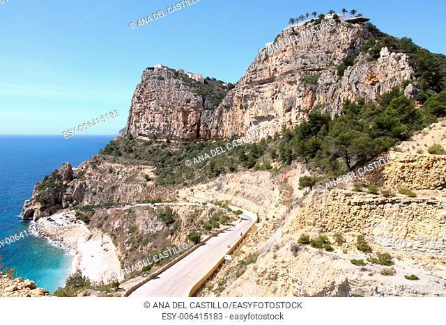 Cliffs in Benitaxell Alicante Spain