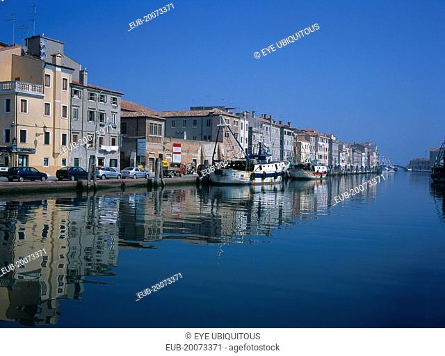 The seaside town by the Adriatic Sea., South end of Laguna Venata, Ferry and Fishing Port