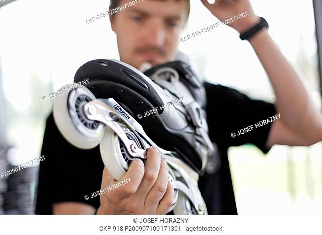 In-line skating, roller skate CTK Photo/Josef Horazny MODEL RELEASED, MR
