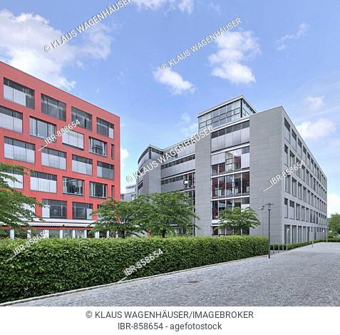 Contemporary architecture, Theresienhoehe, Munich, Bavaria, Germany, Europe