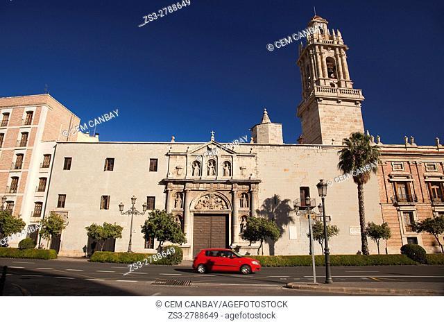 View to the Capilla de San Vicente Parroquial Castrense in Plaza de Tetuan, Valencia, Spain, Europe