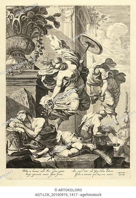 Allegory of Fortuna and Science, Dancker Danckerts, Frederik de Wit, 1650 - 1666