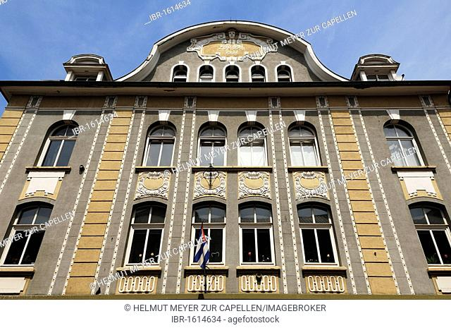 Art Nouveau facade of a department store, 1911, Theaterstr. 54, Gottingen, Lower Saxony, Germany, Europe