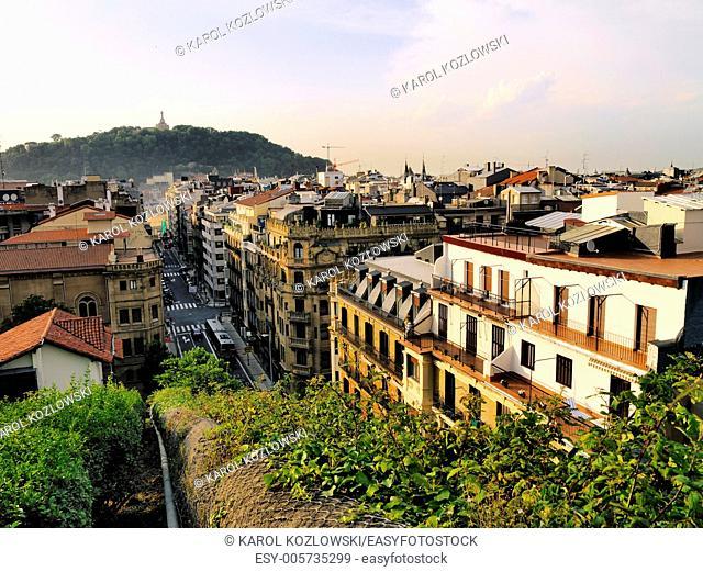 Cityscape of Donostia - San Sebastian, Basque Country, Spain