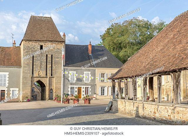 France, Indre, Sainte Severe sur Indre, filming location of Jour de Fete directed by Jacques Tati