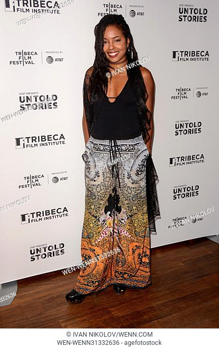 AT&T and Tribeca presents 'Untold Stories' an Inclusive Film Program in collaboration with Tribeca - Red Carpet Arrivals at Thalassa Featuring: Adrienne Warren...