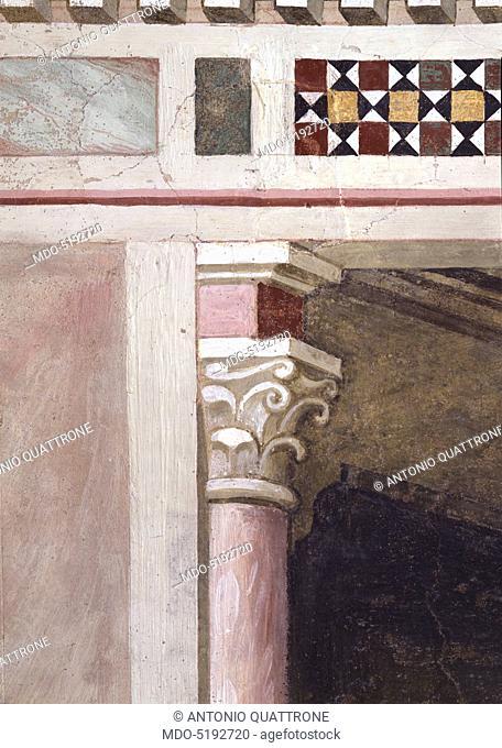 Miracle of the Resurrection of the Bull (Miracolo della risurrezione del toro), by Maso di Banco, 1340, 14th Century, fresco
