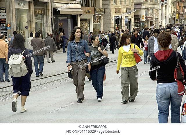 Istiklal Caddesi, shopping street in Istanbul 2006