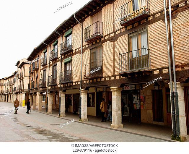Main Street. El Burgo de Osma. Soria province. Spain