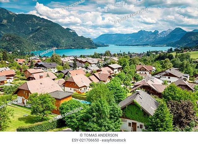 St Gilgen village at Wolfgangsee in Austria