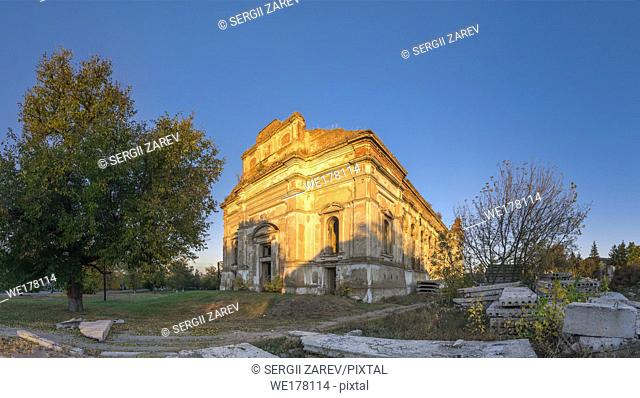 Ruins of the Zelts Catholic Church in the village of Limanskoye, Odessa Region, Ukraine