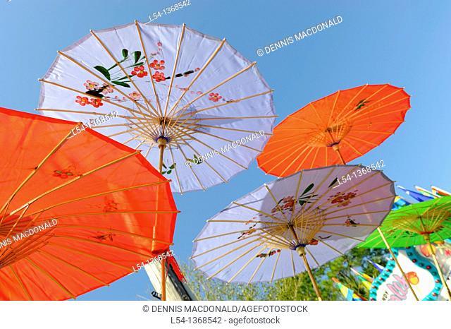 Colorful parasol umbrella