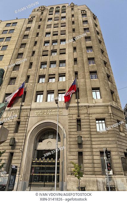 Ministerio de Justicia, Caja del Seguro Obrero (1931), Santiago, Chile