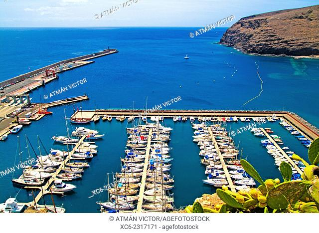 marina in San Sebastian de La Gomera. Canary islands