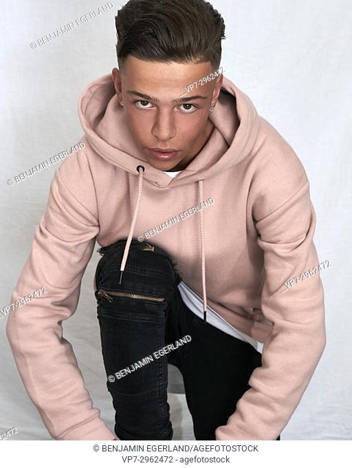 confident young man / Danny Zuiderwijk aka DJ Danimal. 18 years old. Dutch ethnicity