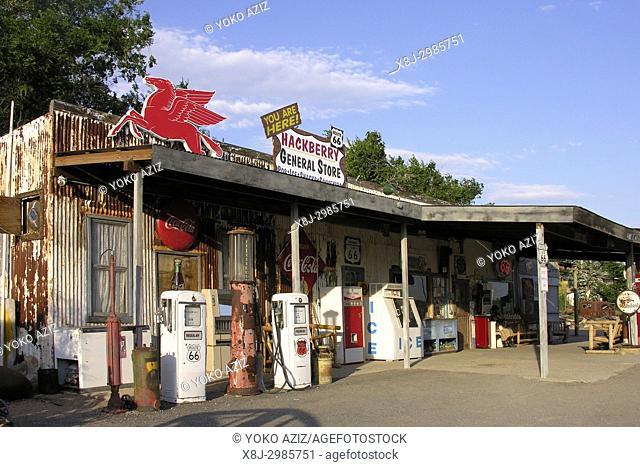 Petrol station, Route 66, Arizona, United States of America