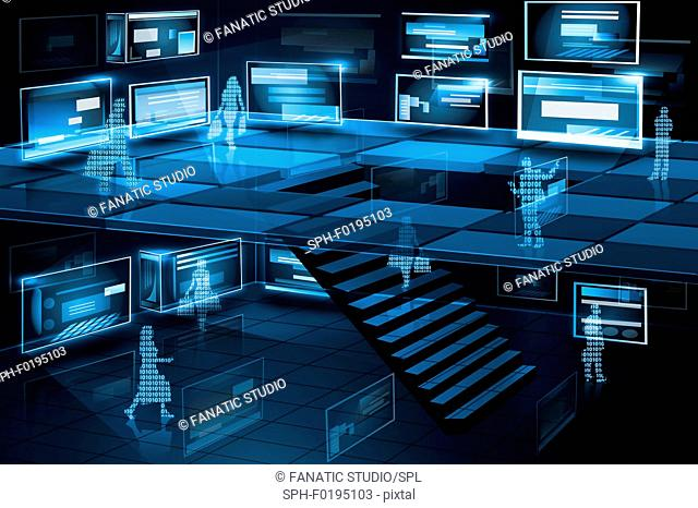 Illustration of computer networking