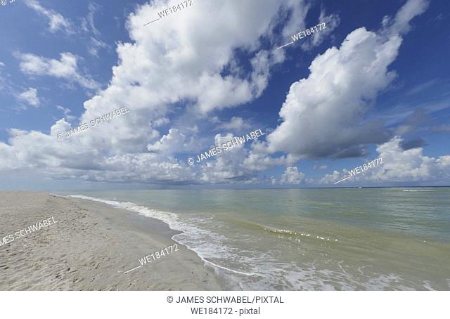 Blind Pass Beach on the Gulf of Mexico on Sanibel Island Florida