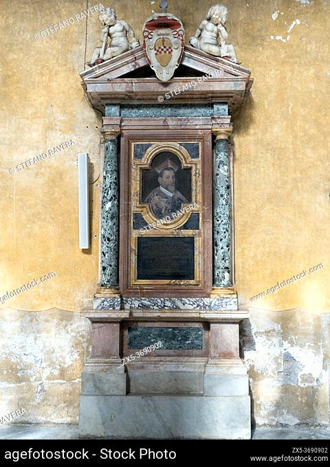 Tombstone in the Basilica of Santa Sabina on the Aventine hill - Rome, Italy