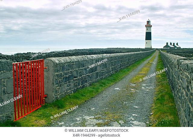 Lighthouse on Inis Oirr, Arran Islands, County Galway, Ireland