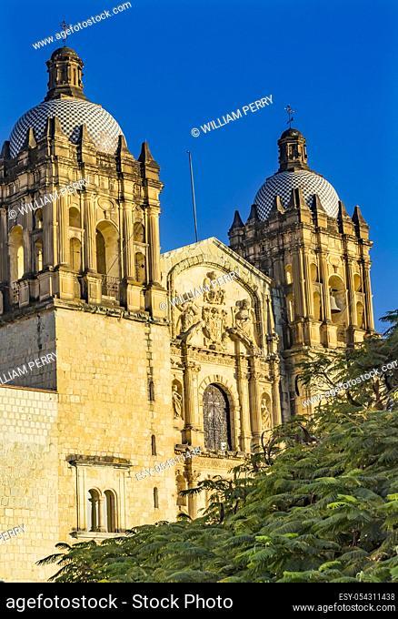 Santo Domingo de Guzman Facade Church Monastery Oaxaca Mexico. Built between 1575 to 1857