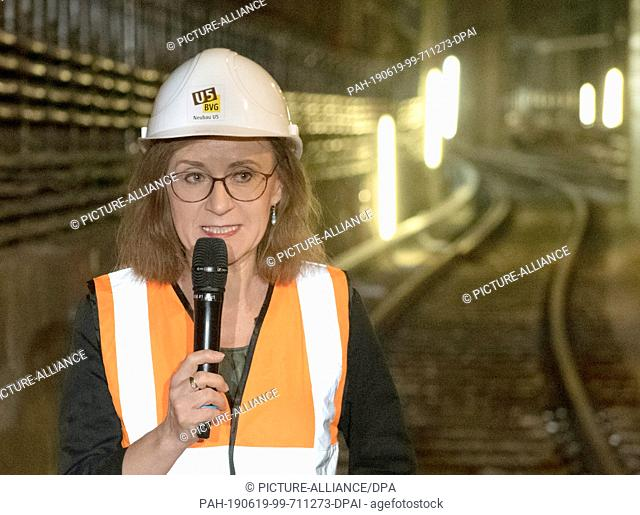 19 June 2019, Berlin: Sigrid Nikutta, Chairman and Chief Operating Officer of Berliner Verkehrsbetriebe (BVG), speaks at a BVG press conference on the...