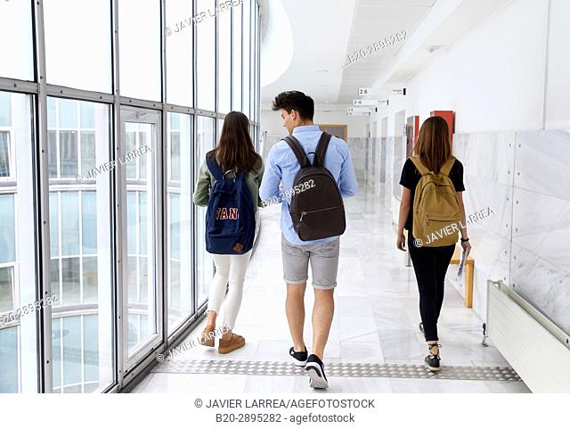 Students. College. School of Business Studies. University. Donostia. San Sebastian. Gipuzkoa. Basque Country. Spain