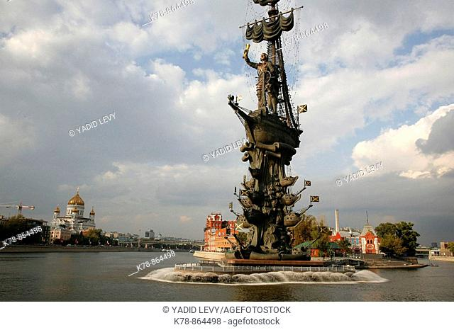 Sep 2008 - Peter the Great monument on Moskva river, Moscow, Russia