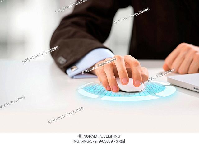 Unrecognizable man using new technologies