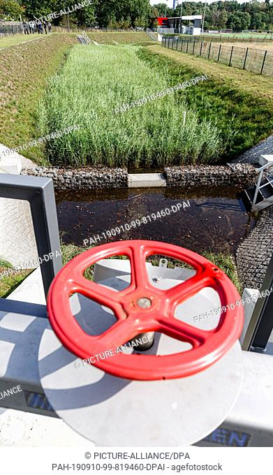 10 September 2019, Hamburg: View of a biological treatment plant for street waste water. It is intended to free rainwater from a radius of 40 hectares of up to...