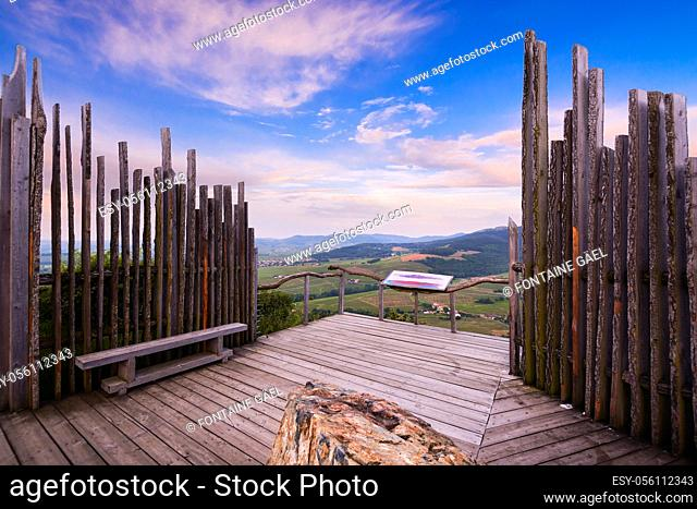 Viewpoint ot Mont Brouilly, Beaujolais, France