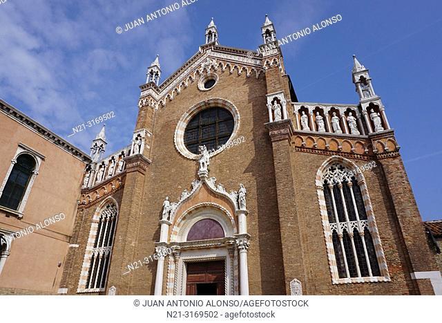Church of Madonna de L'Orto, Cannaregio Sestiere. Venice, Veneto, Italy, Europe