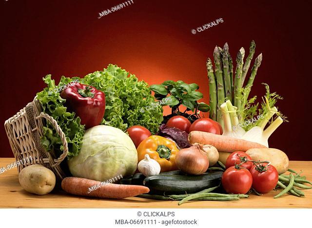 Seasonal vegetables, food, vegetables, Basket of vegetables,Natural product