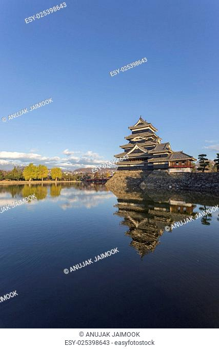 This photo was shot from Matsumoto Castle, Japan in early morning. The soft sunlight touch the castle is so beautiful