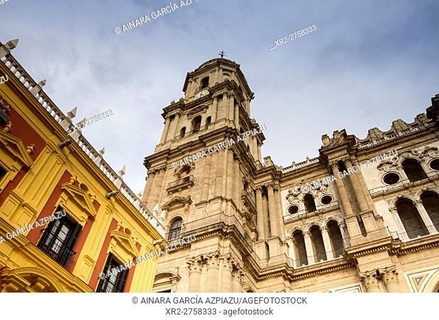 """La Encarnación cathedral, known as """"""""La Manquita"""""""", Málaga, Spain"""