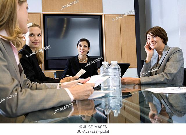 Group of businesswomen at meeting