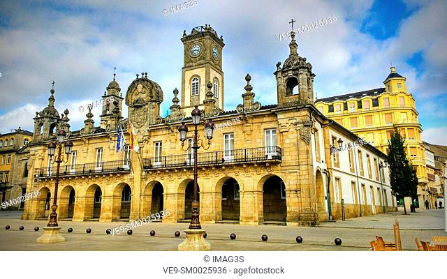 Lugo Town hall. Baroque style. Galicia, Spain