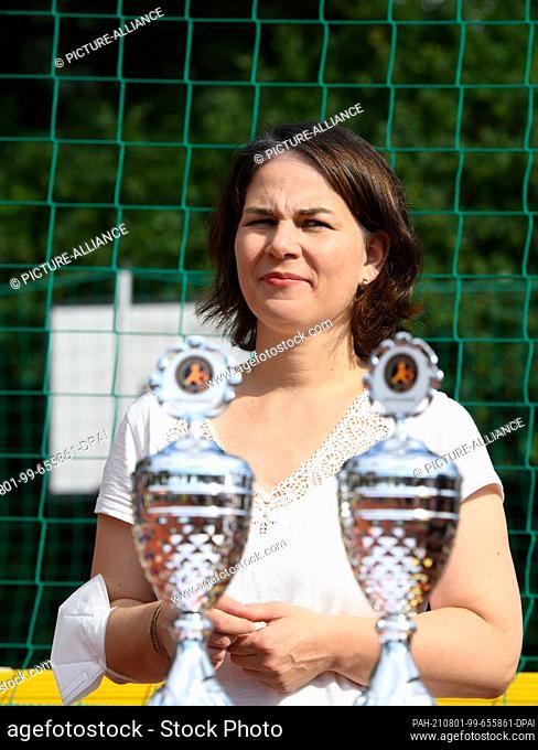 01 August 2021, Brandenburg, Potsdam: Annalena Baerbock, candidate for chancellor and top candidate of Bündnis 90/Die Grünen