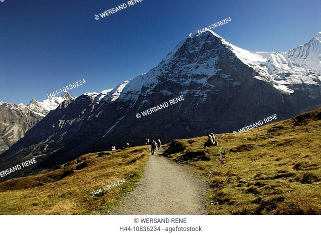 Switzerland, Europe, Mount Eiger, Bernese Oberland, Canton Berne, Bern, landscape, alps, mountain, mountains, mountain
